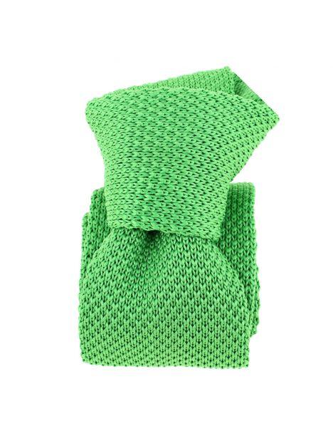 Cravate Tricot. Vert Irlandais Clj Charles Le Jeune Cravates