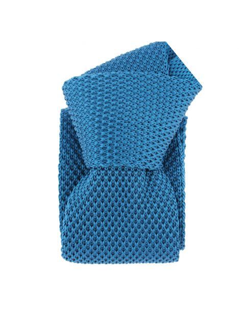 Cravate Tricot. Bleu Noble Clj Charles Le Jeune Cravates