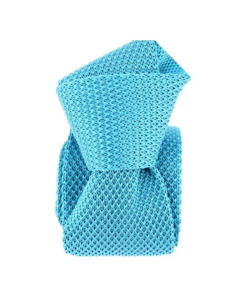 Cravate Tricot. Bleu d'Annecy Clj Charles Le Jeune Cravates