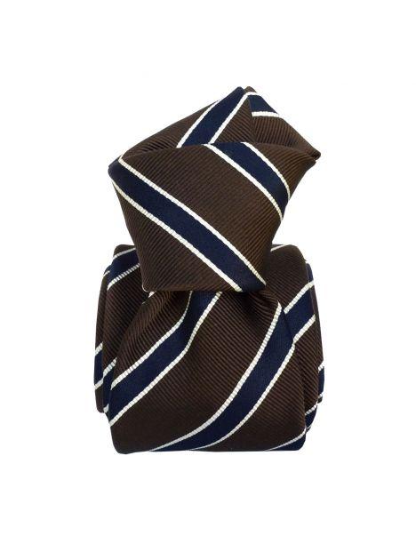 Cravate Classique Segni et Disegni- Savone Marron foncé Segni et Disegni Cravates