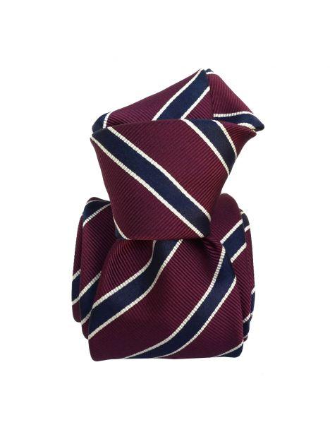 Cravate Classique Segni et Disegni- Savone Bordeaux Segni et Disegni Cravates