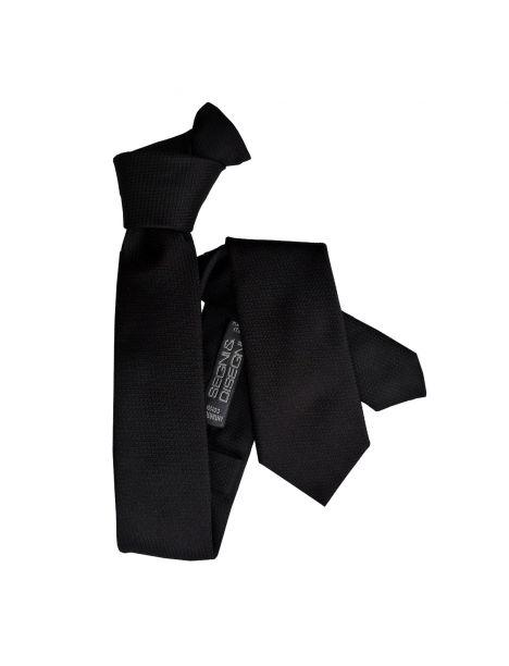 Cravate Segni Disegni CLASSIC, Slim Noir Segni et Disegni Cravates