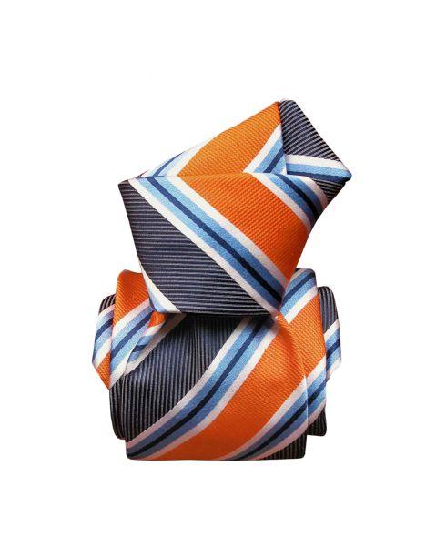 Cravate Segni Disegni LUXE, Faite main, Castellazzo, Orange Segni et Disegni Cravates