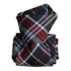 Cravate Segni Disegni LUXE, Faite main, Livigno, Bleu Marine