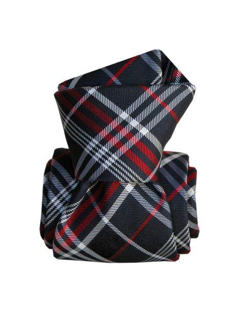 Cravate Segni Disegni LUXE, Faite main, Livigno, Bleu Marine Segni et Disegni Cravates