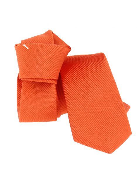 Cravate soie Segni Disegni CLASSIC, Slim Orange Segni et Disegni Cravates