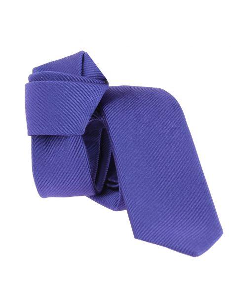 Cravate soie Segni Disegni CLASSIC, Slim violet Segni et Disegni Cravates