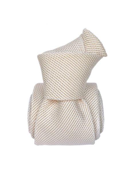 Cravate grenadine de soie, Segni & Disegni, Lucia blanche Segni et Disegni Cravates