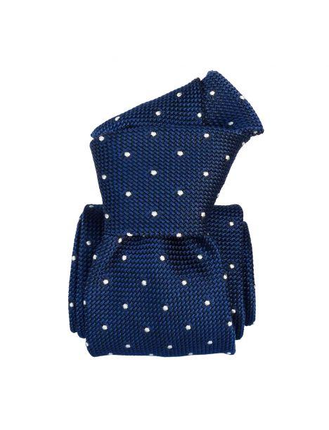 Cravate grenadine de soie, Segni & Disegni, Fjord Bleu Segni et Disegni Cravates