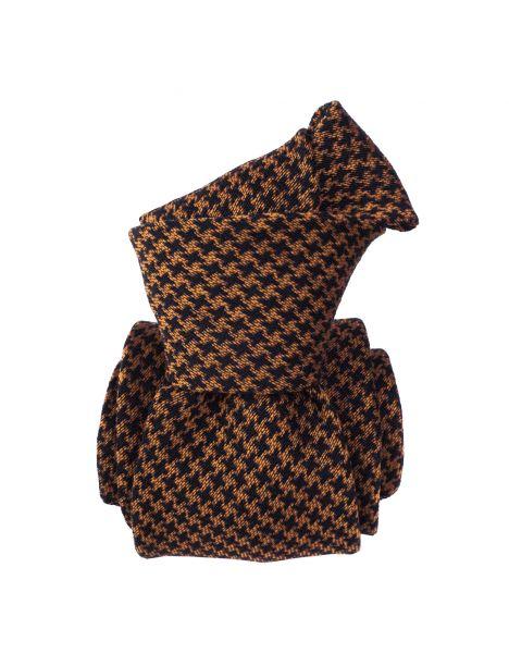 Cravate en laine et soie, Toscane Mandarine Segni et Disegni Cravates