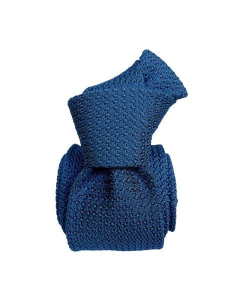 Cravate grenadine de soie, bleu profond, Tony & Paul Tony & Paul Cravates