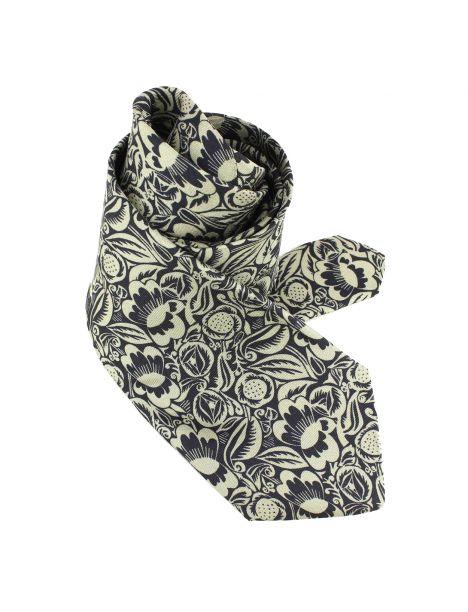 Cravate en soie, Dufy Perse, bronze Brochier Soieries 1890 Cravates