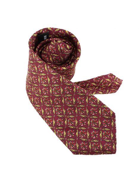 Cravate en soie, Jones Perse 04, rouge bordeaux Brochier Soieries 1890 Cravates