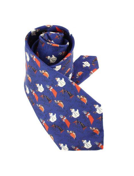Cravate en soie, Toulouse Lautrec Jane Avril, bleu Brochier Soieries 1890 Cravates