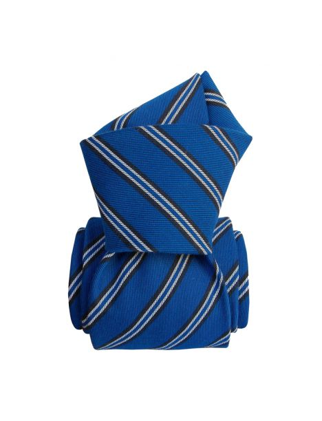 Cravate en soie, Panteleria bleu Segni et Disegni Cravates