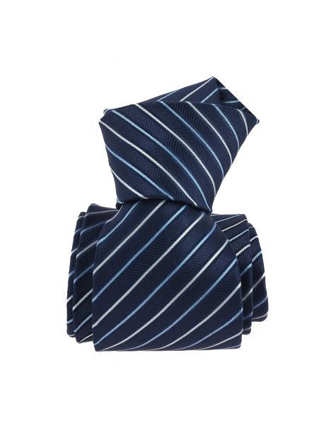Cravate, Via Battaglione, Bleu Clj Charles Le Jeune Cravates