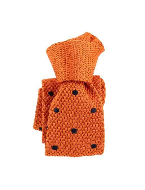 Cravate Tricot. Orange Preppy Clj Charles Le Jeune Cravates