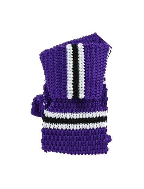 Cravate Tricot. Violet Lilas Clj Charles Le Jeune Cravates