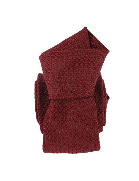 Cravate grenadine de soie, Seigni & Disegni, Italia rouge Bordeaux Segni et Disegni Cravates