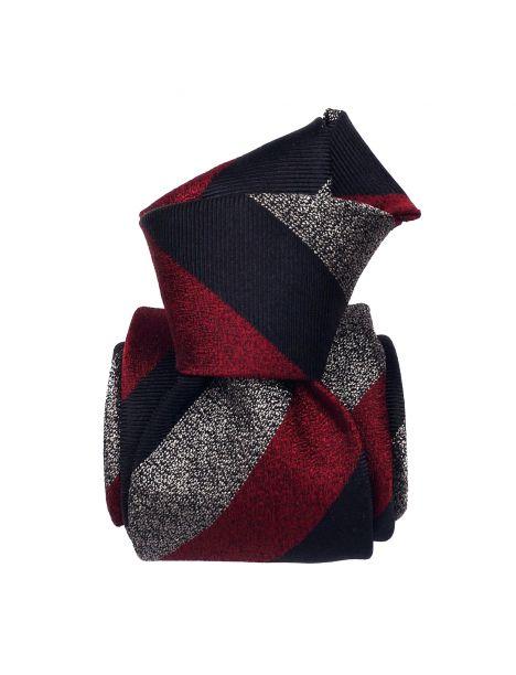 Cravate soie 6 plis, Club Bordeaux, Faite à la main Segni et Disegni Cravates