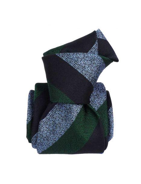 Cravate soie 6 plis, Club Vert, Faite à la main Segni et Disegni Cravates