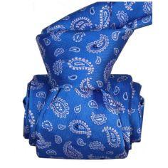 Cravate Segni Disegni LUXE, Faite main. Paisley bleu