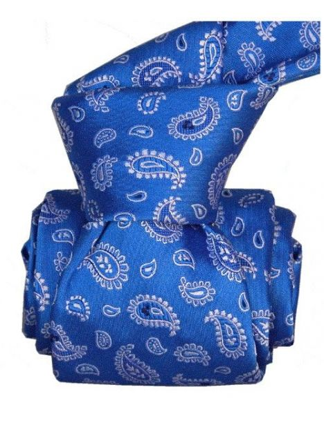 Cravate Segni Disegni LUXE, Faite main. Paisley bleu Segni et Disegni Cravates