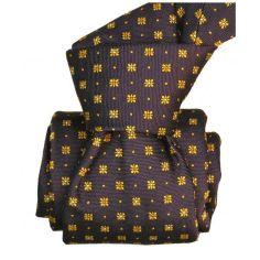 Cravate Segni Disegni LUXE, Faite main. Milano marron