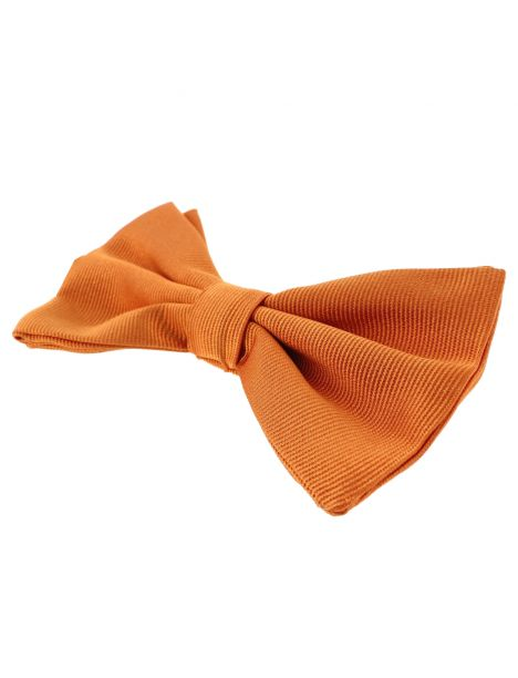 Noeud papillon soie italienne, Orange Rame Tony & Paul Noeud Papillon