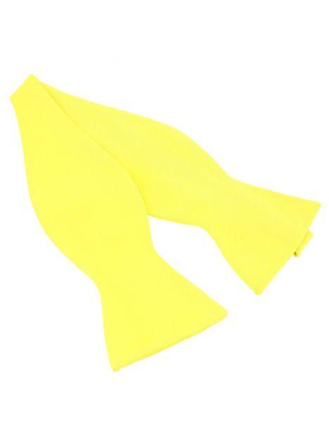 Noeud papillon à nouer en soie, jaune Citron, Fait à la main Tony & Paul Noeud Papillon