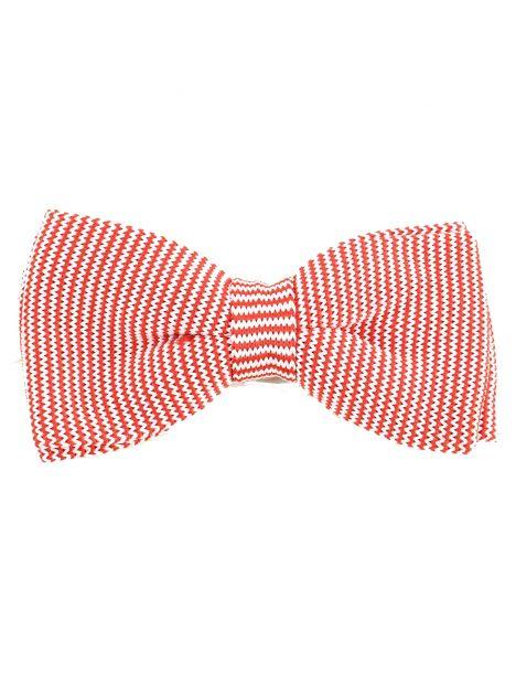 Noeud papillon tricot Williamsburg cosy rouge Clj Charles Le Jeune Noeud Papillon
