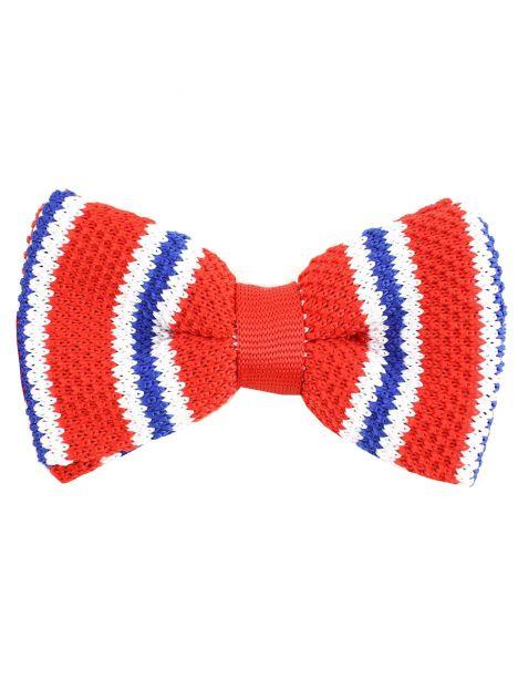 Noeud papillon tricot bon genre rouge Clj Charles Le Jeune Noeud Papillon