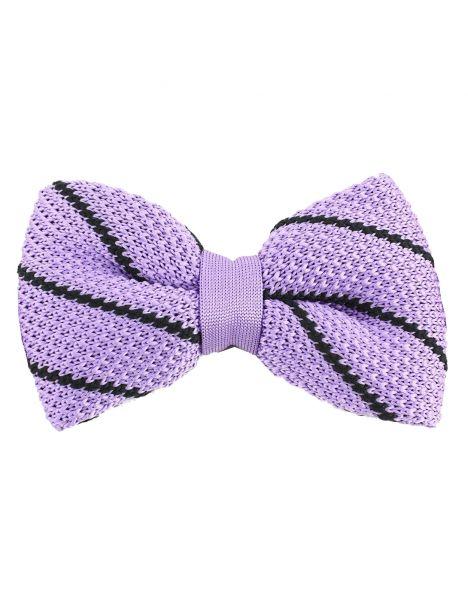 Noeud papillon tricot columbia violet Clj Charles Le Jeune Noeud Papillon