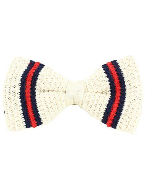 Noeud papillon tricot Chicago beige Clj Charles Le Jeune Noeud Papillon