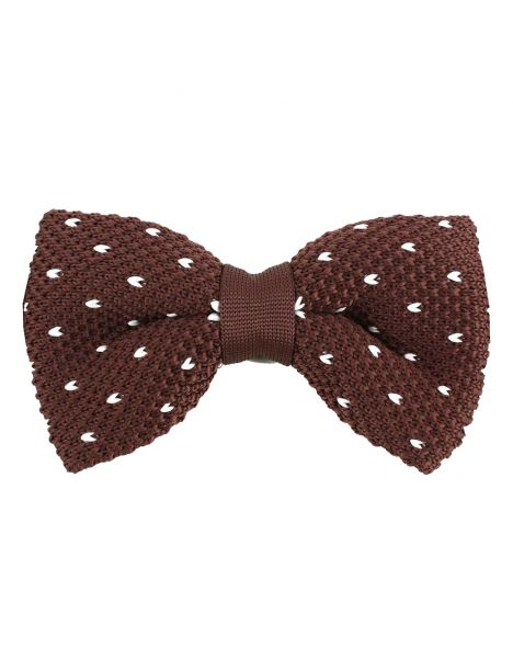 Noeud papillon tricot Manhattan marron Clj Charles Le Jeune Noeud Papillon