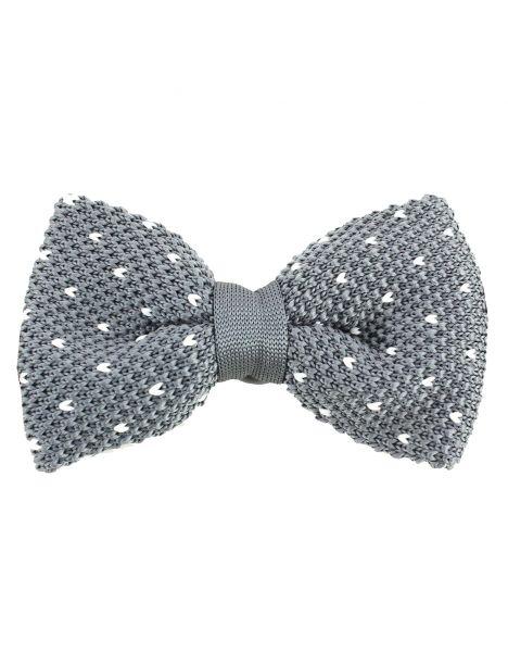 Noeud papillon tricot Manhattan gris Clj Charles Le Jeune Noeud Papillon