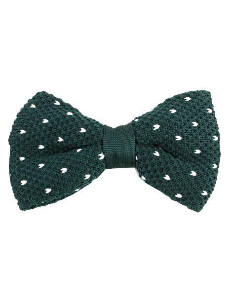Noeud papillon tricot Manhattan vert Clj Charles Le Jeune Noeud Papillon