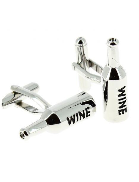 Boutons de manchette, Bouteilles de vin argent?