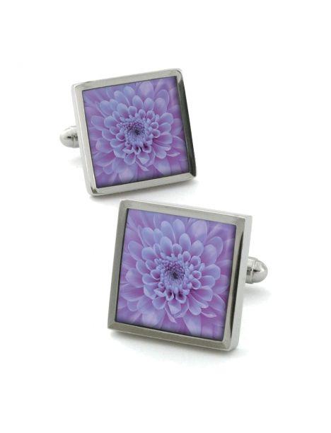 Boutons de manchette, Chrysanthemum Lilas Robert Charles Bouton de manchette