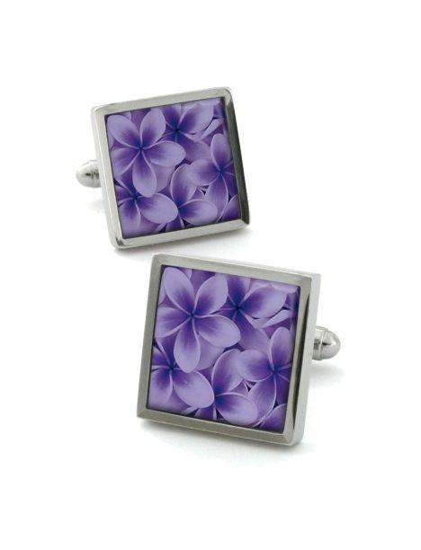 Boutons de manchette, Frangipani lilas