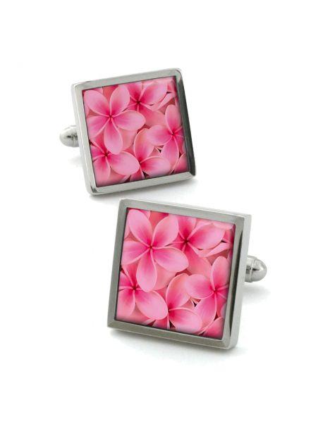 Boutons de manchette, Frangipani rose