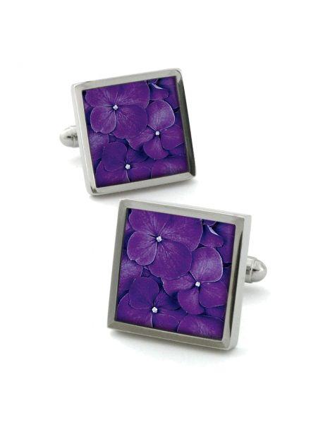 Boutons de manchette, Hydrangea violet