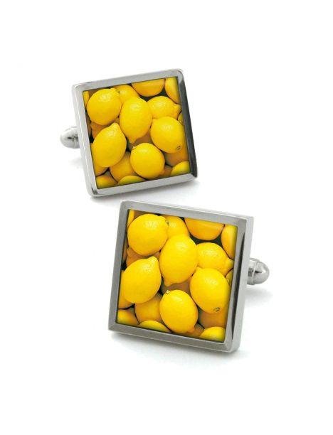 Boutons de manchette, citron