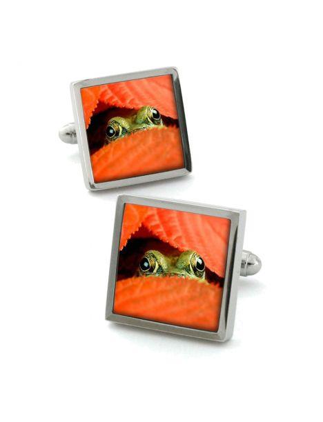 Boutons de manchette, Peeping-Frog Robert Charles Bouton de manchette