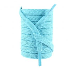 lacets sneaker, plats 8mm en coton, Bleu Turquoise
