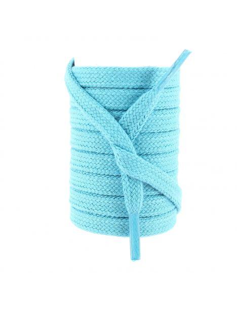 lacets sneaker, plat et large en coton, Bleu Turquoise Les lacets Français Lacets