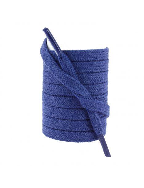 lacets sneaker, plat et large en coton, Bleu King Les lacets Français Lacets