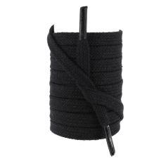 lacets sneaker, plats 8mm en coton, Noir