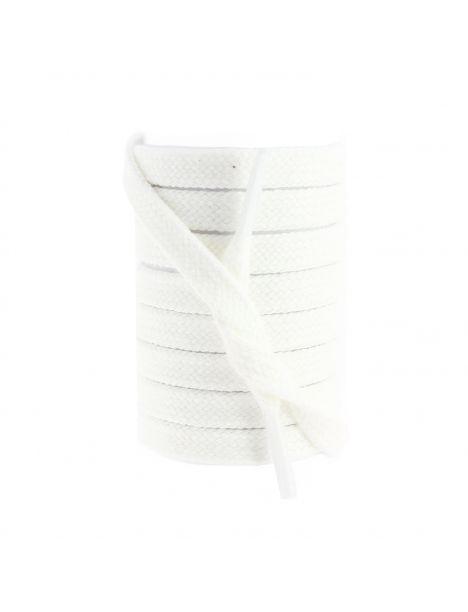 lacets sneaker, plat et large en coton, Blanc Les lacets Français Lacets