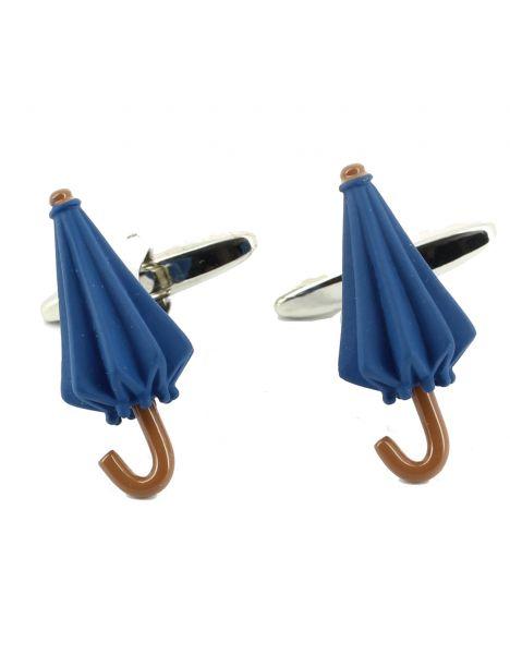 Boutons de manchette, Parapluie bleu Cravate Avenue Signature Bouton de manchette